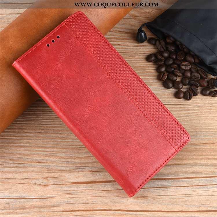 Housse Nokia 2.3 Protection Cuir Rouge, Étui Nokia 2.3 Portefeuille Téléphone Portable Rouge