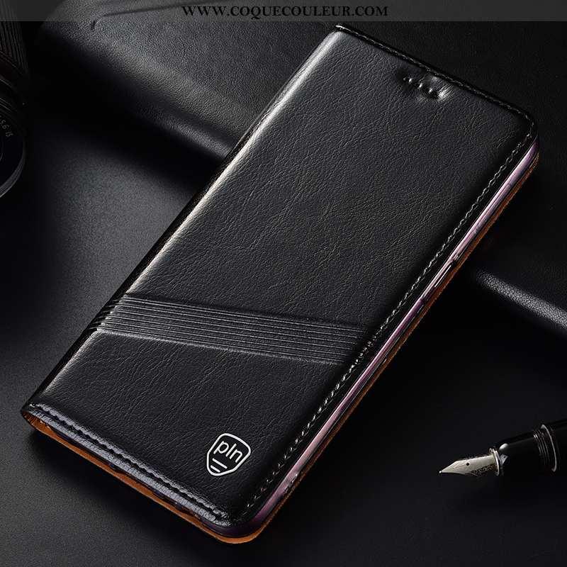 Coque Nokia 2.3 Protection Étui Noir, Housse Nokia 2.3 Cuir Véritable Téléphone Portable Noir
