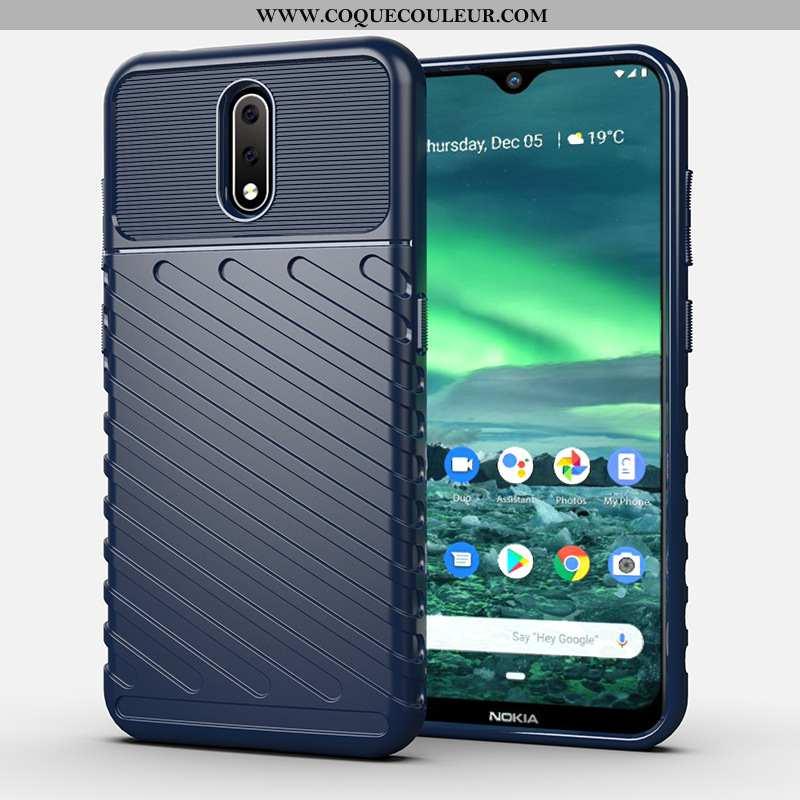 Étui Nokia 2.3 Silicone Bleu Incassable, Coque Nokia 2.3 Téléphone Portable