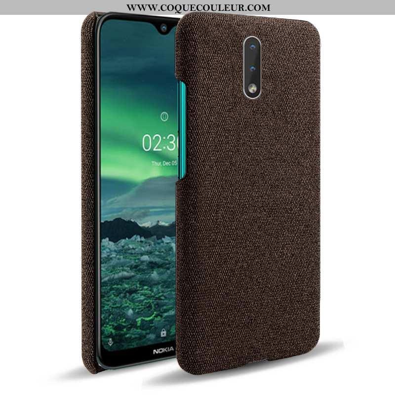 Housse Nokia 2.3 Protection Étui Téléphone Portable, Nokia 2.3 Tissu Coque Marron