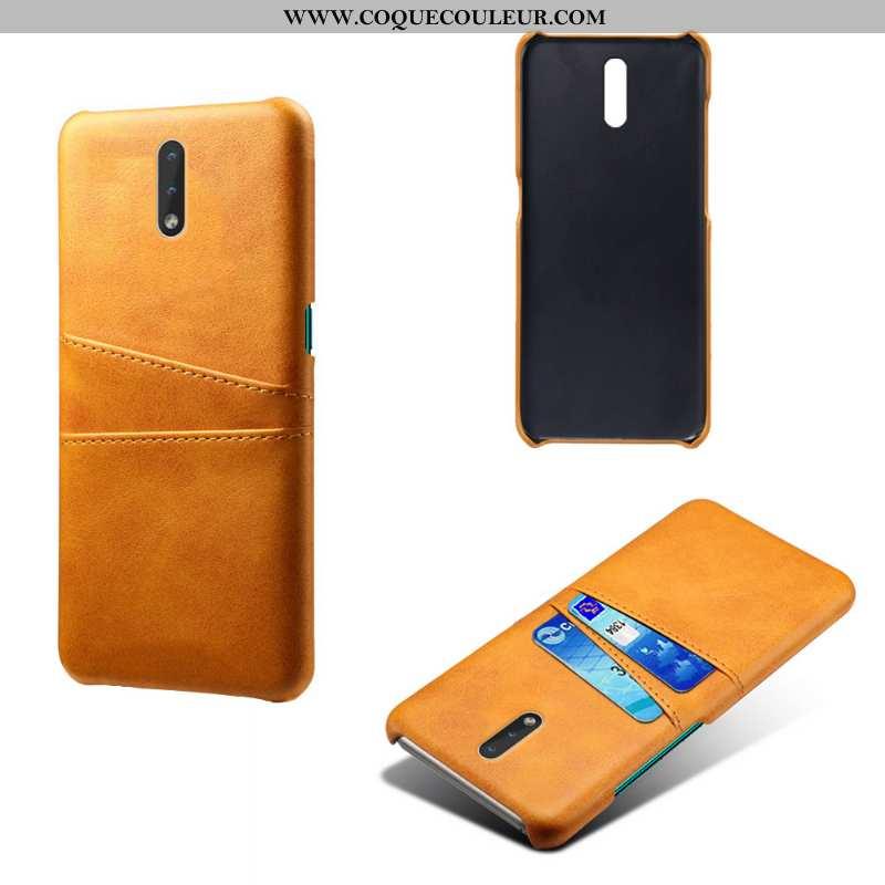 Étui Nokia 2.3 Cuir Carte Jaune, Coque Nokia 2.3 Protection Jaune