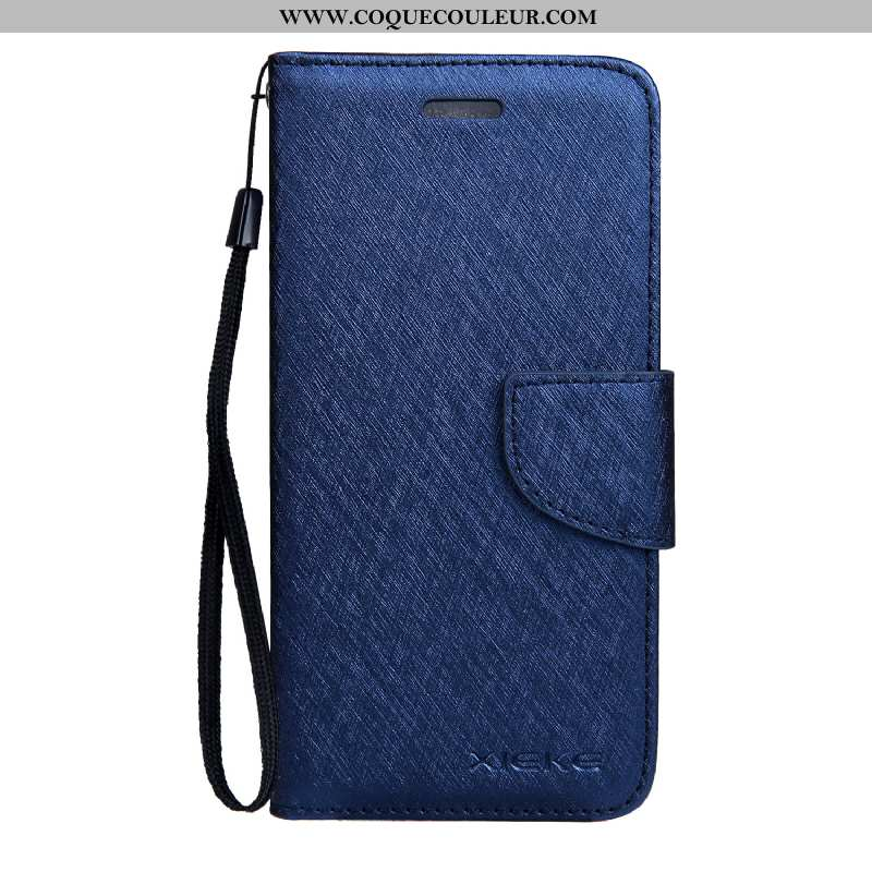 Housse Nokia 3.1 Modèle Fleurie Bleu Soie Mulberry, Étui Nokia 3.1 Cuir