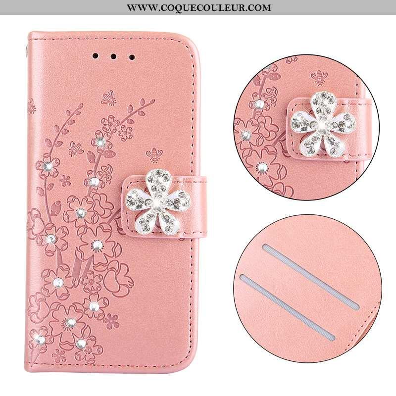 Étui Nokia 3.1 Cuir Coque Housse, Nokia 3.1 Protection Plier Rose