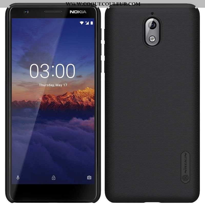 Coque Nokia 3.1 Protection Étui, Housse Nokia 3.1 Délavé En Daim Or Noir