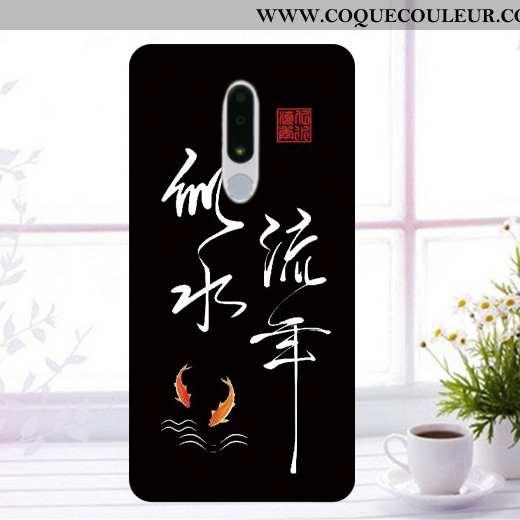 Housse Nokia 3.1 Plus Fluide Doux Coque Incassable, Étui Nokia 3.1 Plus Protection Noir