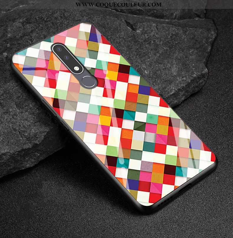 Coque Nokia 3.1 Plus Personnalité Incassable Coque, Housse Nokia 3.1 Plus Créatif Personnalisé Color