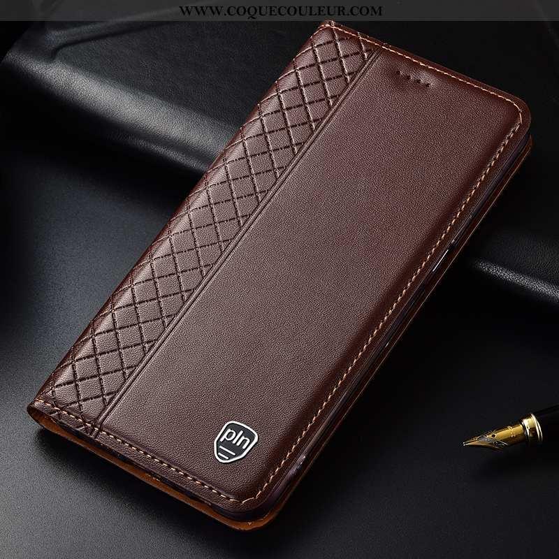 Étui Nokia 3.1 Plus Protection Téléphone Portable, Coque Nokia 3.1 Plus Cuir Véritable Incassable Ma