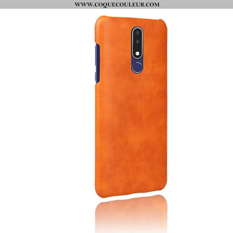 Coque Nokia 3.1 Plus Modèle Fleurie Orange Téléphone Portable, Housse Nokia 3.1 Plus Protection Coul