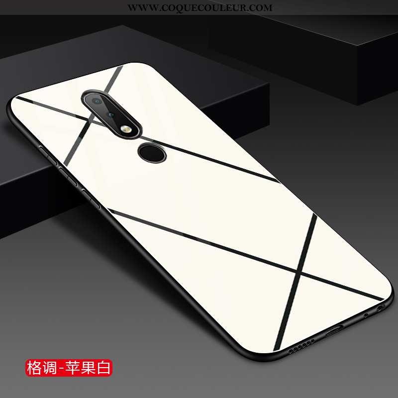 Housse Nokia 3.1 Plus Protection Incassable Blanc, Étui Nokia 3.1 Plus Verre Mode Blanche