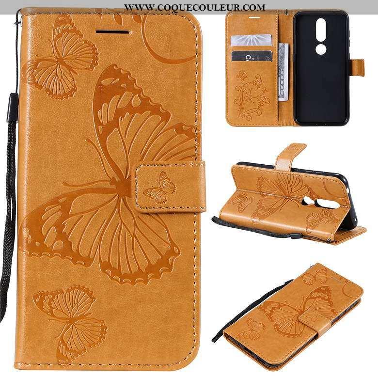Coque Nokia 3.2 Fluide Doux Téléphone Portable, Housse Nokia 3.2 Silicone Jaune