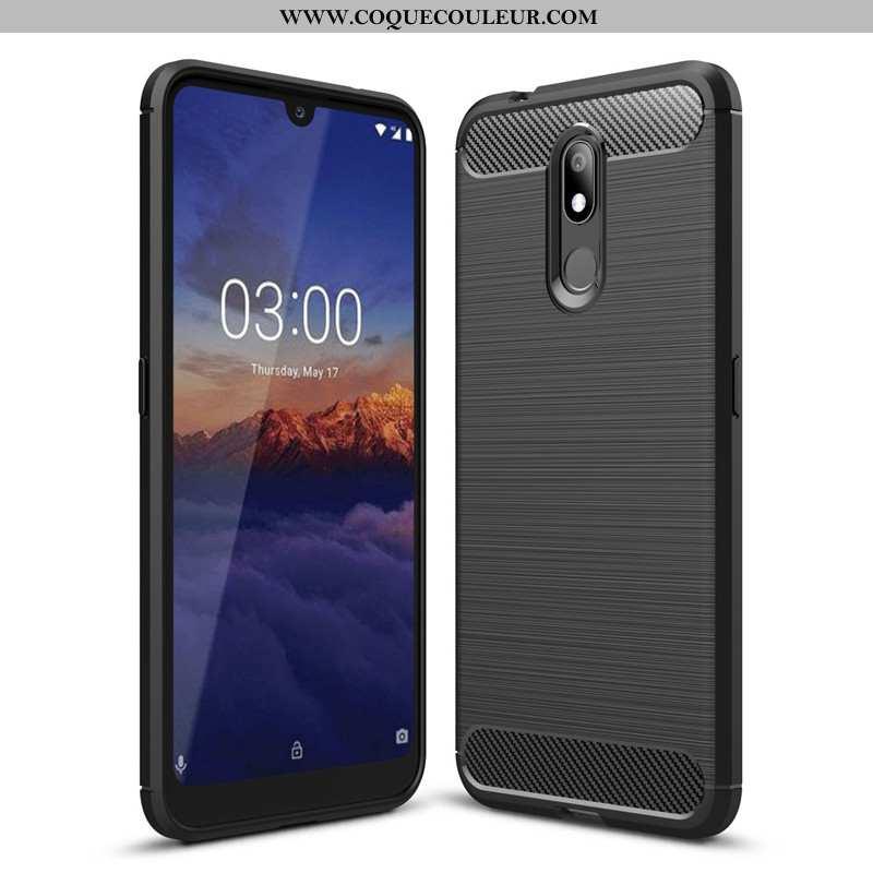 Housse Nokia 3.2 Protection Incassable Noir, Étui Nokia 3.2 Fluide Doux Coque Noir