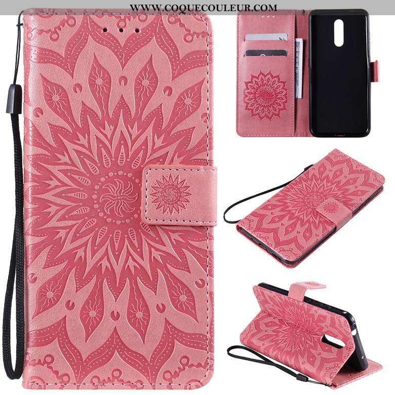 Étui Nokia 3.2 Protection Téléphone Portable Rouge, Coque Nokia 3.2 Cuir Rouge