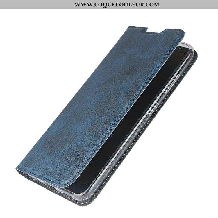 Coque Nokia 3.2 Protection Incassable Clamshell, Housse Nokia 3.2 Cuir Véritable Téléphone Portable