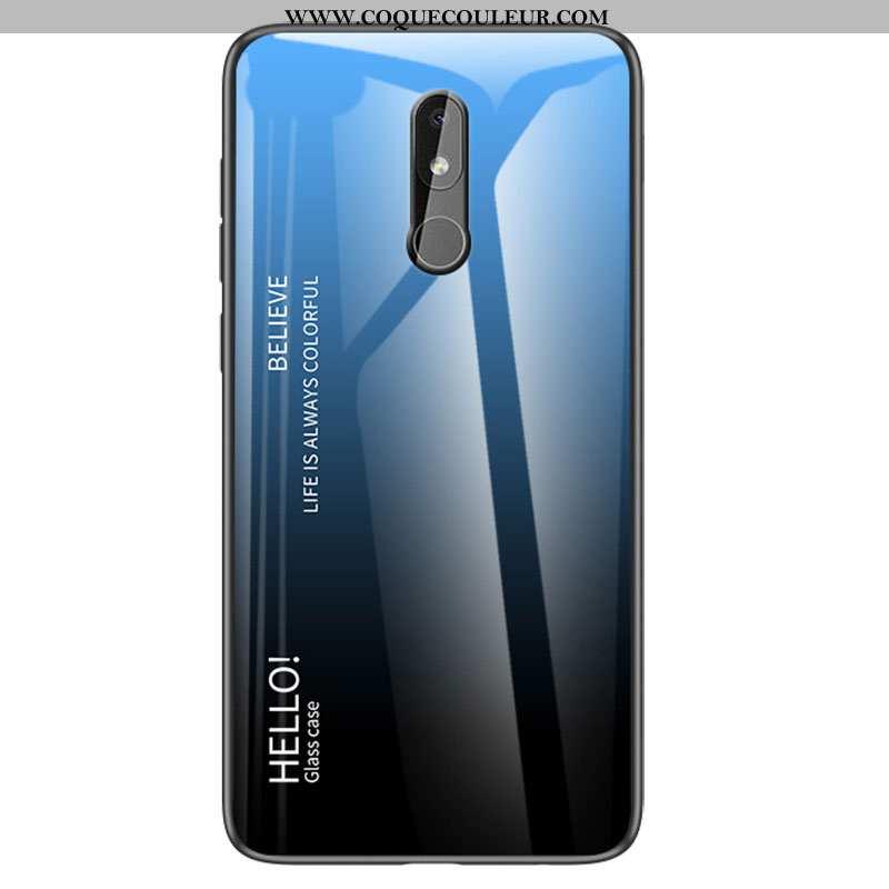Étui Nokia 3.2 Silicone Simple Dégradé, Coque Nokia 3.2 Protection Bleu