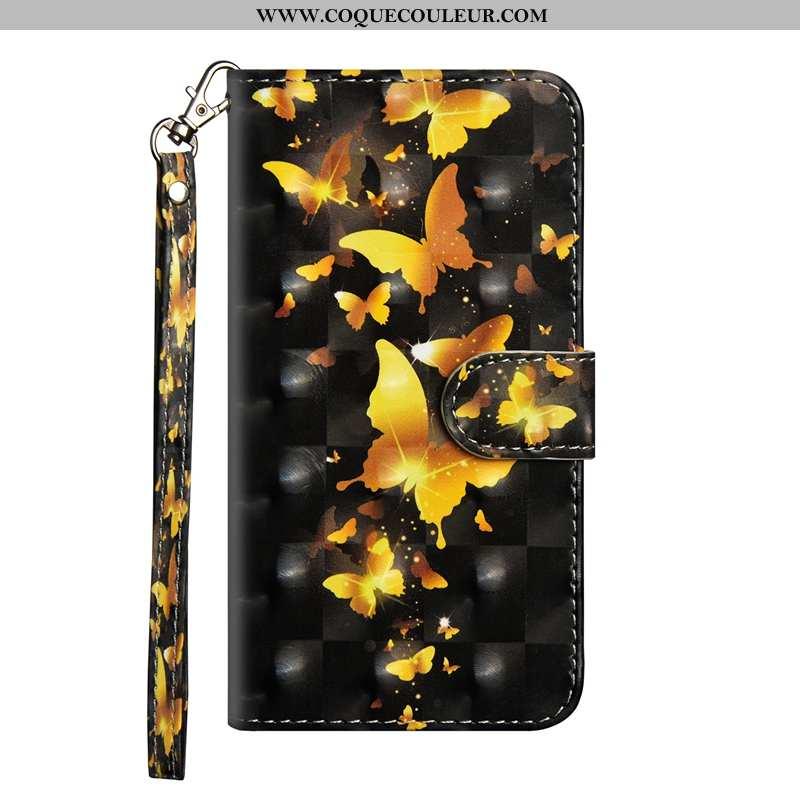 Housse Nokia 3.2 Protection Cuir Incassable, Étui Nokia 3.2 Personnalité Téléphone Portable Doré
