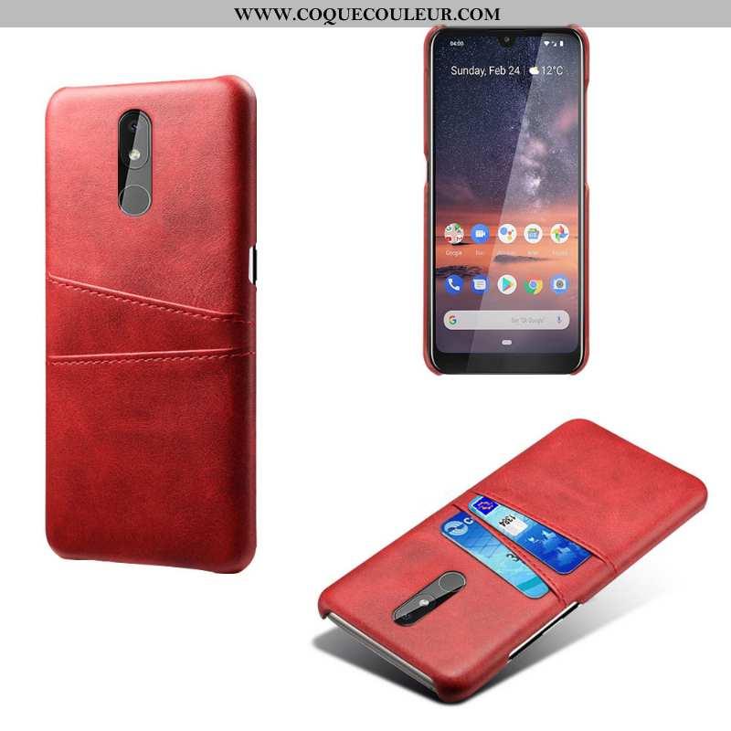 Housse Nokia 3.2 Protection Rouge Qualité, Étui Nokia 3.2 Vintage Cuir
