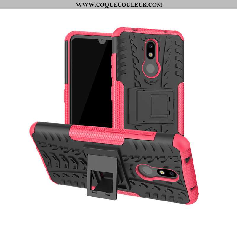 Coque Nokia 3.2 Protection Téléphone Portable Rouge, Housse Nokia 3.2 Incassable Rose