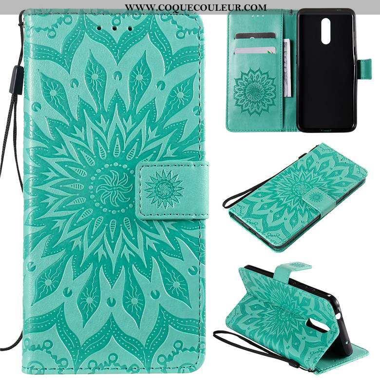 Coque Nokia 4.2 Protection Étui Coque, Housse Nokia 4.2 Cuir Téléphone Portable Verte