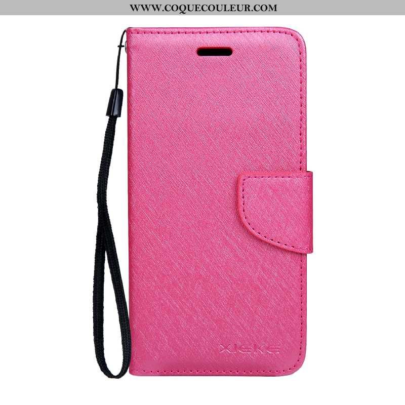 Étui Nokia 4.2 Modèle Fleurie Soie Mulberry Étui, Coque Nokia 4.2 Protection Cuir Rose