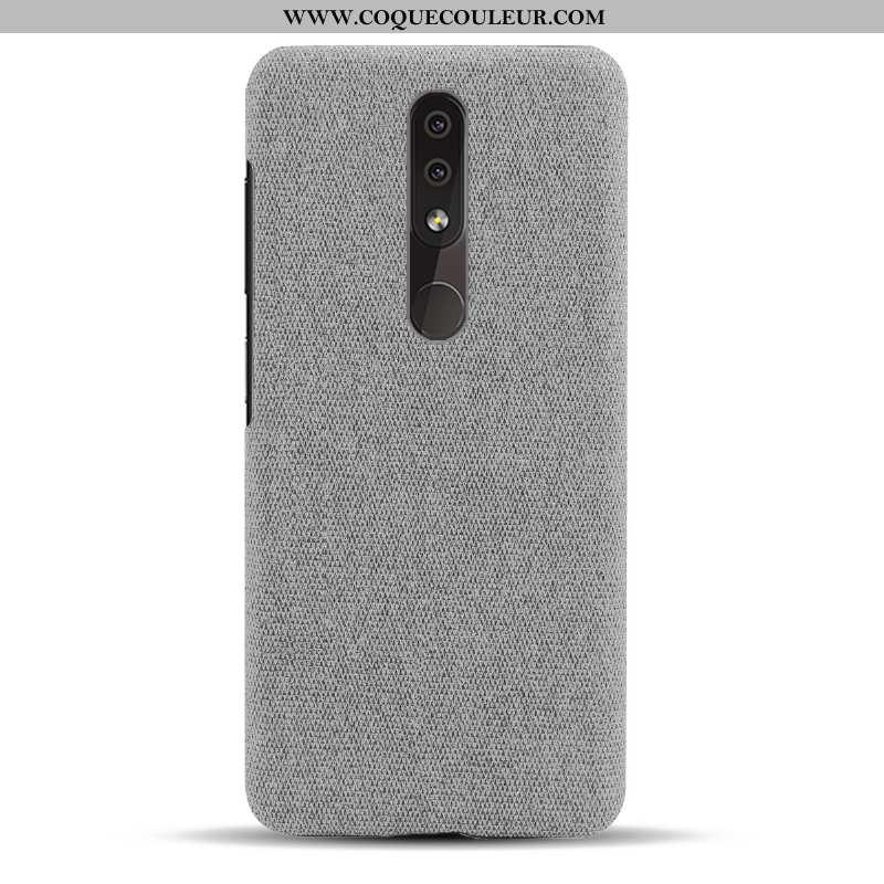 Housse Nokia 4.2 Légère Incassable Tissu, Étui Nokia 4.2 Protection Téléphone Portable Gris
