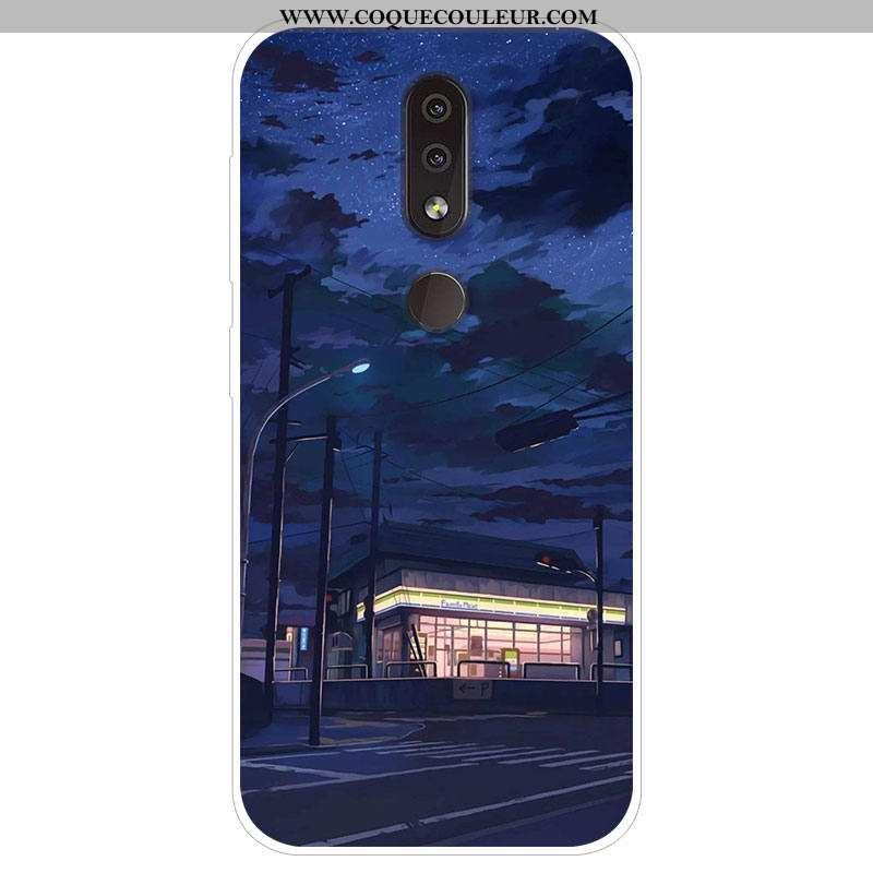 Coque Nokia 4.2 Silicone Étui, Housse Nokia 4.2 Protection Bleu Marin Bleu Foncé