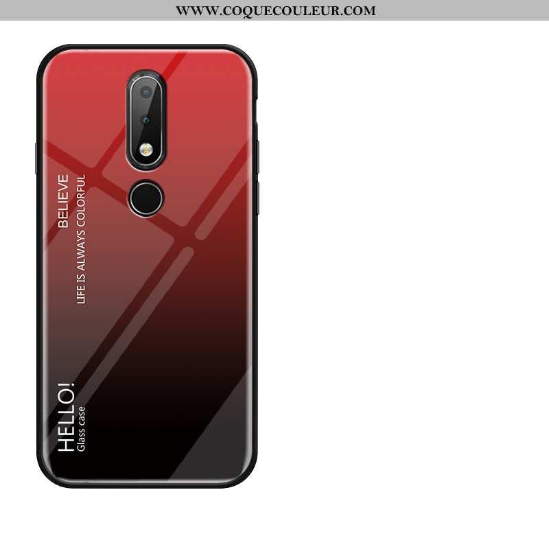 Étui Nokia 4.2 Silicone Rouge Téléphone Portable, Coque Nokia 4.2 Protection Fluide Doux