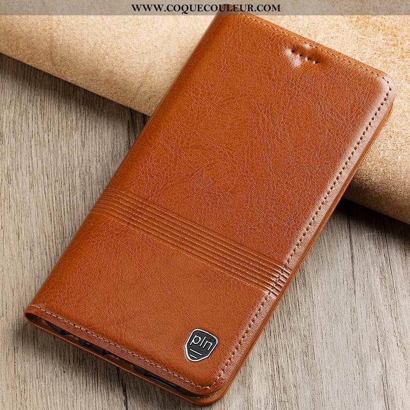 Étui Nokia 4.2 Cuir Véritable Téléphone Portable Protection, Coque Nokia 4.2 Cuir Khaki