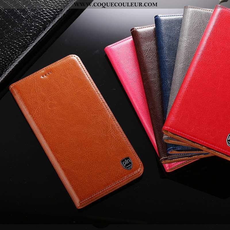 Étui Nokia 4.2 Protection Téléphone Portable Housse, Coque Nokia 4.2 Cuir Véritable Marron