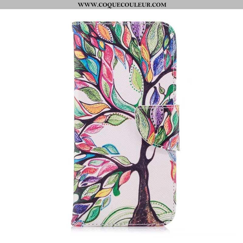 Étui Nokia 5.1 Cuir Téléphone Portable, Coque Nokia 5.1 Protection Peinture Coloré