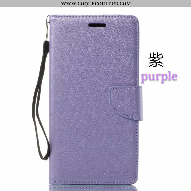 Coque Nokia 5.1 Tendance Étui Violet, Housse Nokia 5.1 Portefeuille Plier Violet