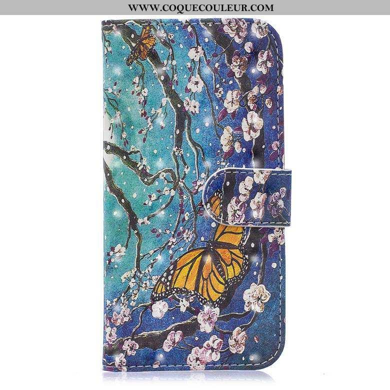 Étui Nokia 5.1 Protection Coque Étui, Nokia 5.1 Cuir Incassable Bleu
