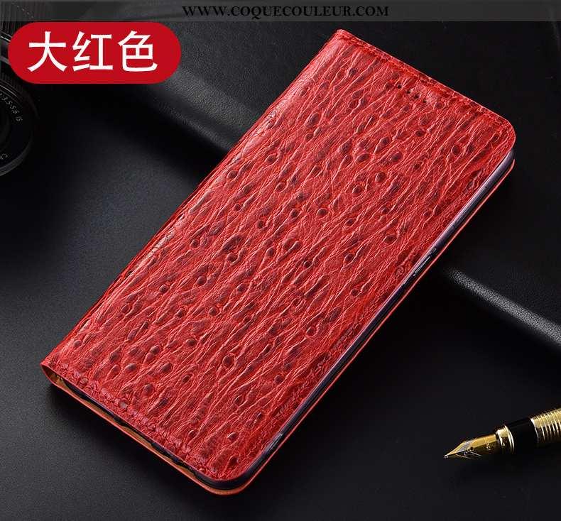 Coque Nokia 5.1 Protection Rouge Coque, Housse Nokia 5.1 Cuir Véritable Modèle Fleurie