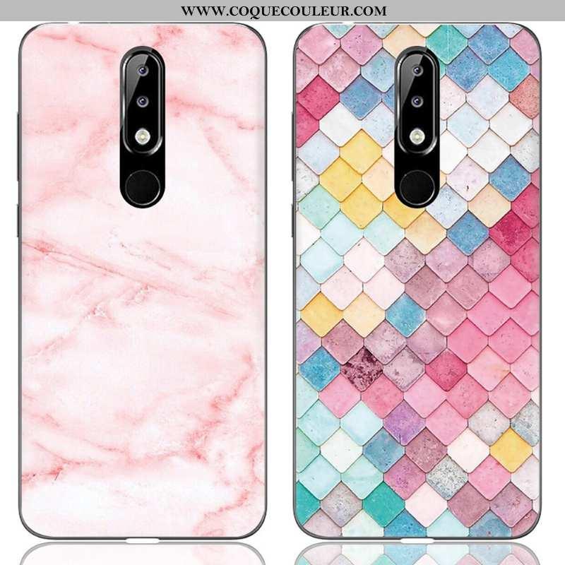 Coque Nokia 5.1 Plus Créatif Protection Peinture, Housse Nokia 5.1 Plus Dessin Animé Rose
