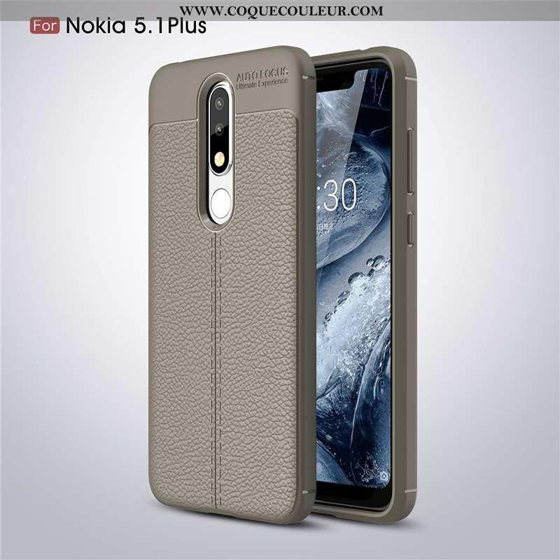 Coque Nokia 5.1 Plus Protection Incassable Téléphone Portable, Housse Nokia 5.1 Plus Modèle Fleurie