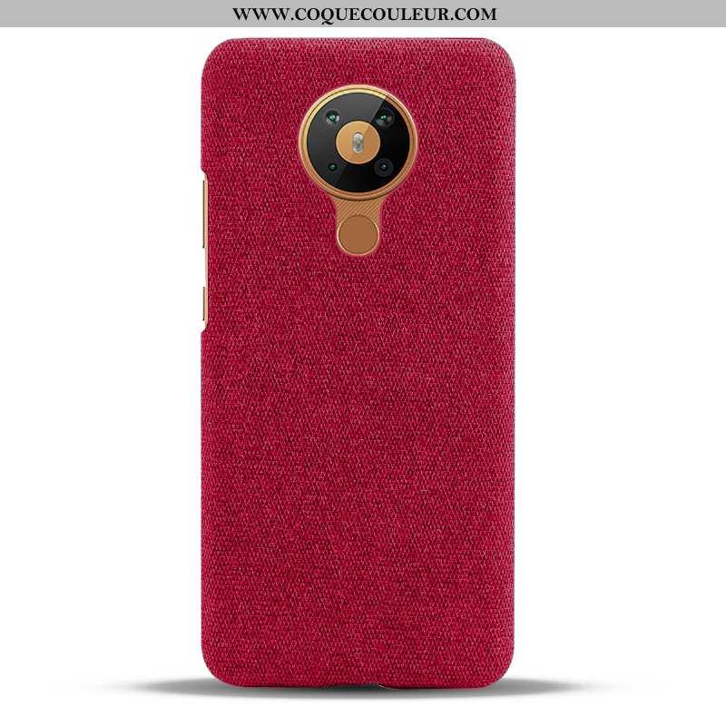 Housse Nokia 5.3 Protection Étui Coque, Nokia 5.3 Tissu Téléphone Portable Bordeaux