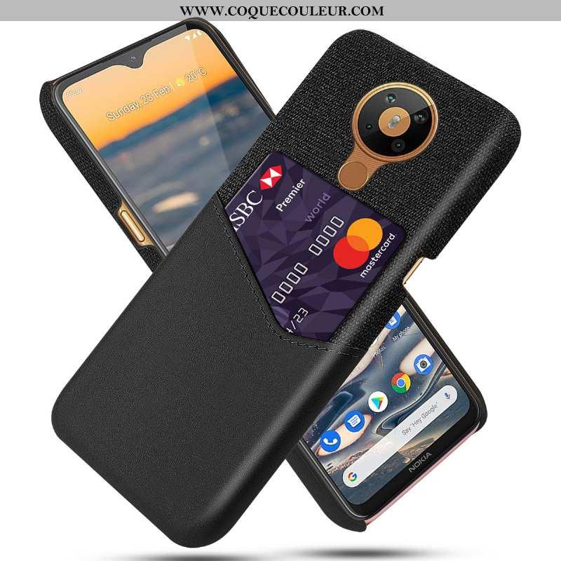 Housse Nokia 5.3 Protection Étui Coque, Nokia 5.3 Cuir Noir
