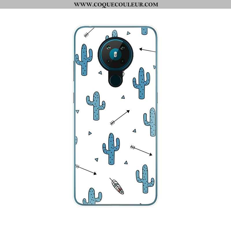 Étui Nokia 5.3 Protection Fluide Doux Blanc, Coque Nokia 5.3 Ultra Blanche