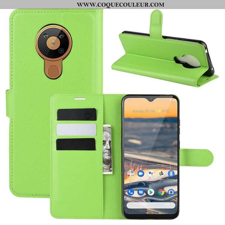 Étui Nokia 5.3 Délavé En Daim Antidérapant Téléphone Portable, Coque Nokia 5.3 Cuir Vert Verte