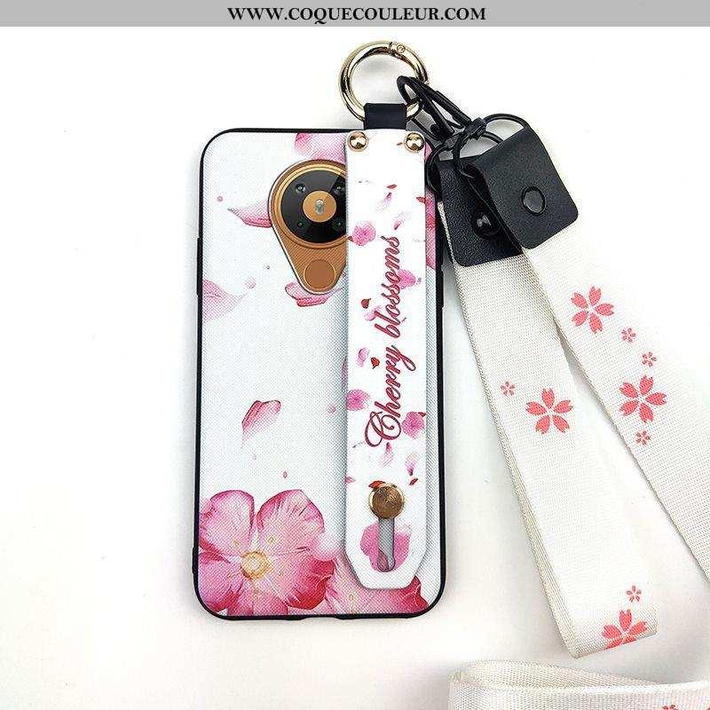 Étui Nokia 5.3 Protection Rose Support, Coque Nokia 5.3 Tendance Fleur