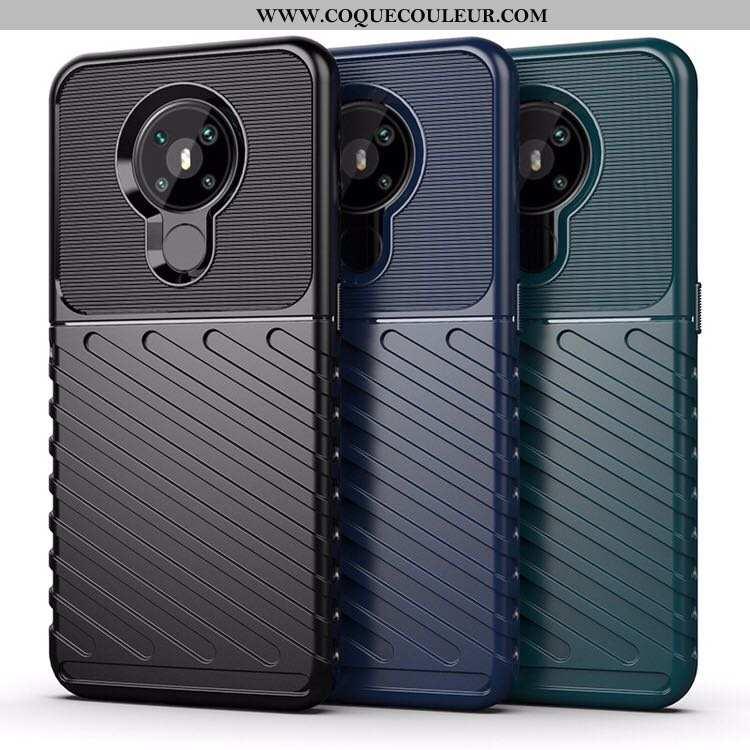 Housse Nokia 5.3 Couvercle Arrière Téléphone Portable Noir, Étui Nokia 5.3 Coque Incassable Noir