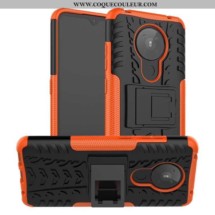 Coque Nokia 5.3 Délavé En Daim Incassable Antidérapant, Housse Nokia 5.3 Personnalité Orange