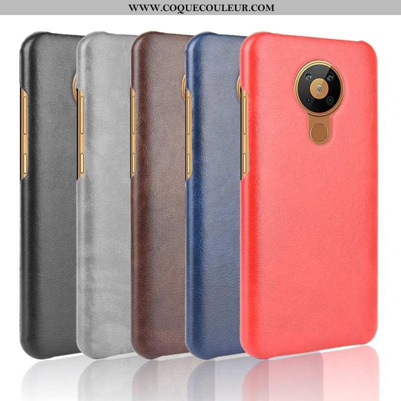 Coque Nokia 5.3 Protection Légères Téléphone Portable, Housse Nokia 5.3 Cuir Difficile Rouge