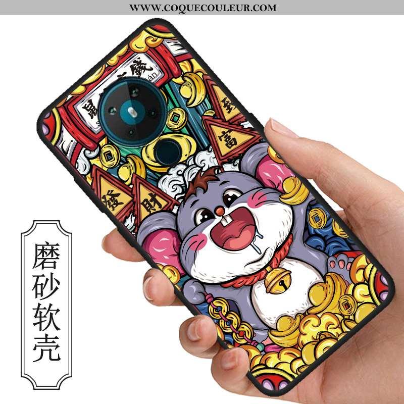 Housse Nokia 5.3 Silicone Rat Tout Compris, Étui Nokia 5.3 Protection Téléphone Portable Coloré