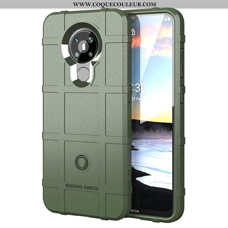 Housse Nokia 5.3 Téléphone Portable Coque Vert, Étui Nokia 5.3 Verte