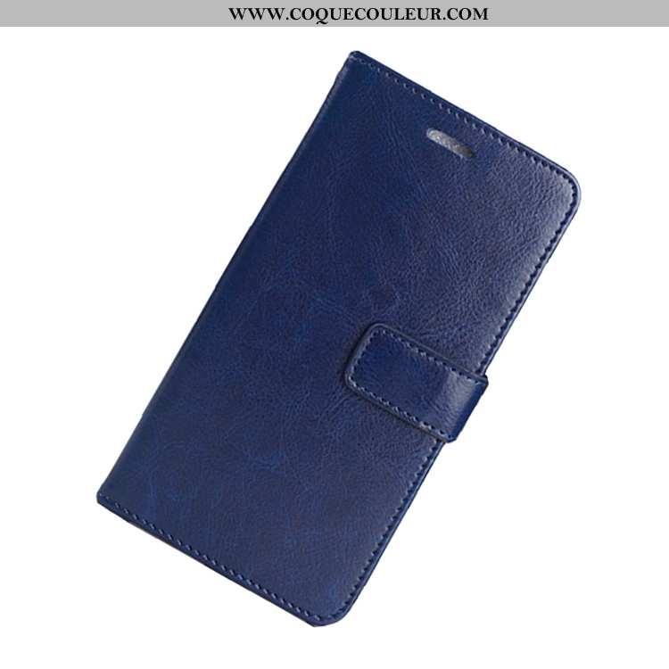 Housse Nokia 6.1 Silicone Étui Cuir, Nokia 6.1 Protection Bleu