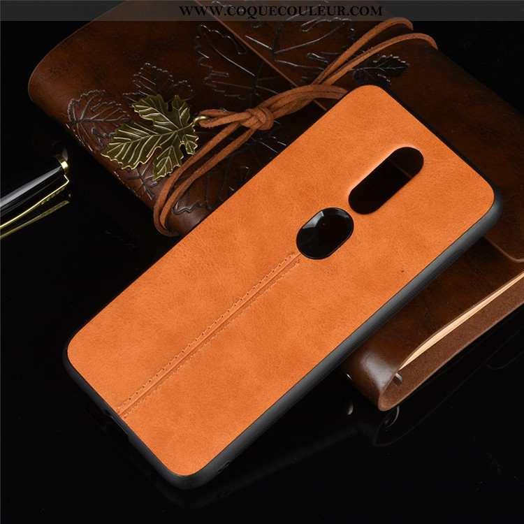 Étui Nokia 6.1 Cuir Jaune, Coque Nokia 6.1 Protection Jaune