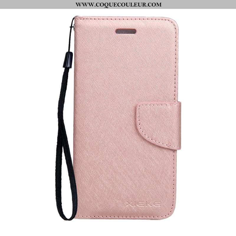 Étui Nokia 6.1 Protection Business Housse, Coque Nokia 6.1 Cuir Soie Mulberry Rose