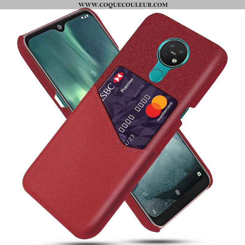 Housse Nokia 6.2 Protection Étui Légère, Nokia 6.2 Ultra Carte Rouge
