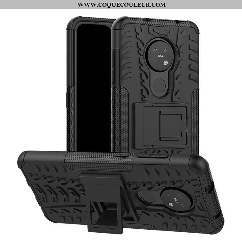 Housse Nokia 6.2 Protection Téléphone Portable Support, Étui Nokia 6.2 Difficile Noir