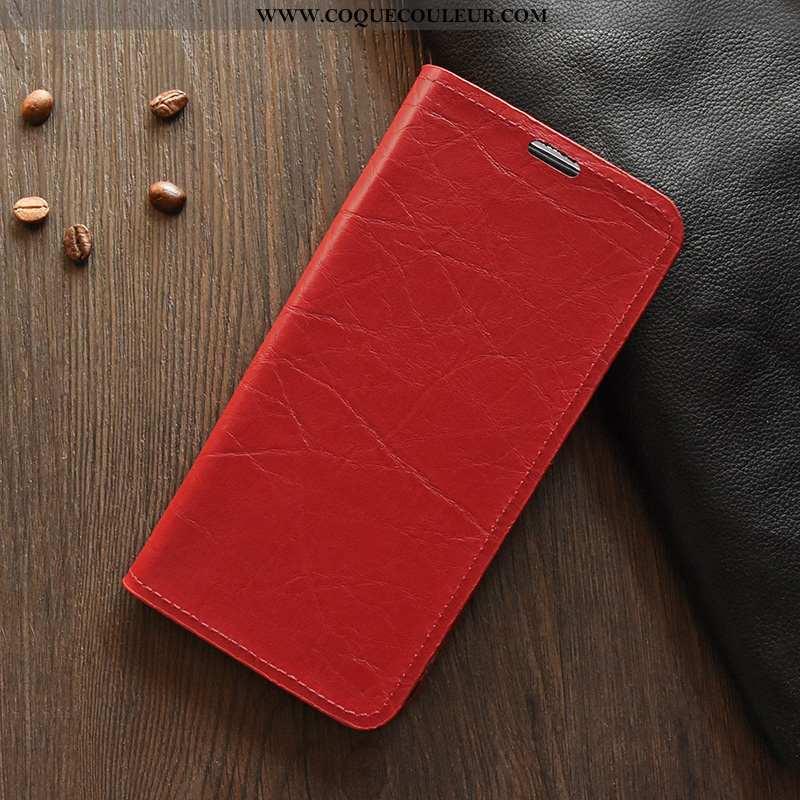 Coque Nokia 6.2 Cuir Rouge Légère, Housse Nokia 6.2 Silicone Jours